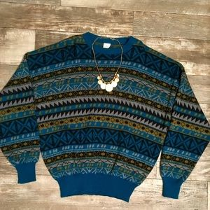 Vintage Multicolor Crewneck Sweater